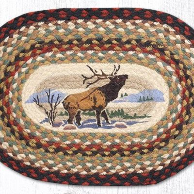 Winter Elk 48-319WE Oval Placemat 13x36