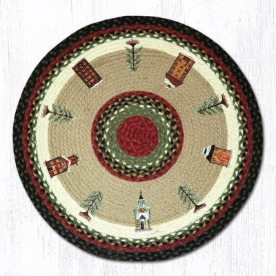 Winter Village 66-338WV Round Area Rug 27x27