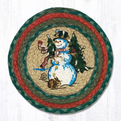 Winter Wonderland Braided Jute Oval Accent Mat 246