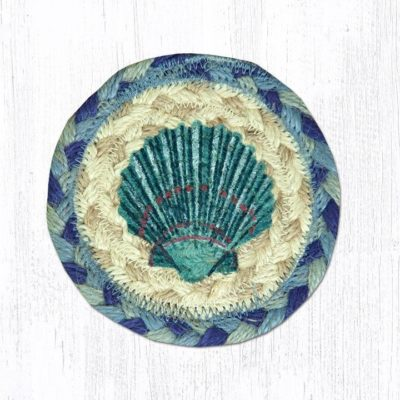 Blue Scallop 31-IC378BS Round Individual Coaster 5x5