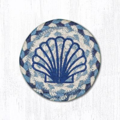 Blue Scallop 31-IC525BS Round Individual Coaster 5x5