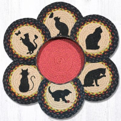 Cats 56-238C Trivets In A Basket Set of 6 10x10