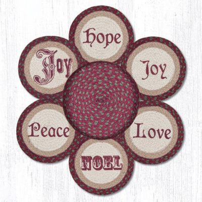 Christmas 56-535C Trivets In A Basket Set of 6 10x10