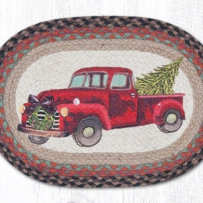 Christmas Truck 48-530CT Oval Placemat 13x19