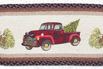 Christmas Truck 68-530CT Oval Runner 13x36