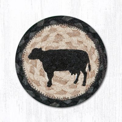 Cow Silhouette 31-IC459CS Round Individual Coaster 5x5