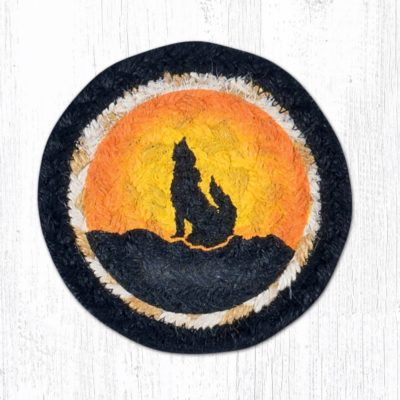 Coyote Silhoutte 31-IC469CS Round Individual Coaster 5x5
