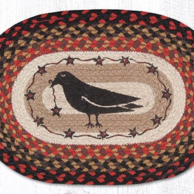 Crow & Stars 48-919CS Oval Placemat 13x19