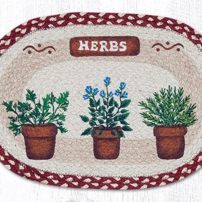 Herbs 48-524H Oval Placemat 13x19