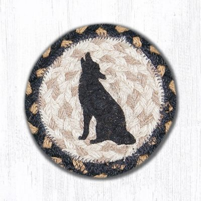 Howling Coyote 31-IC043HC Round Individual Coaster 5x5