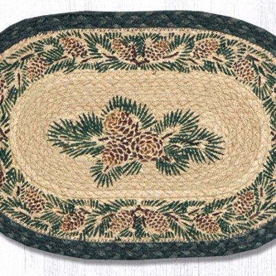 Pinecone 81-025A Oval Accent Mat 10x15