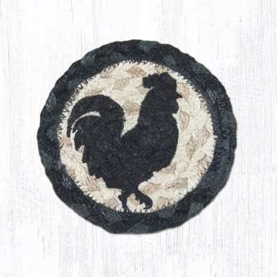 Rooster Silhouette 31-IC459RS Rund Individual Coaster 5x5