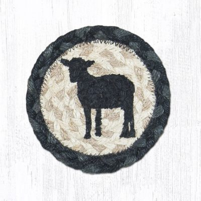 Sheep Silhouette 31-IC459SS Round Individual Coaster 5x5