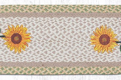 Tall Sunflowers 68-529TS Oval Runner 13x36