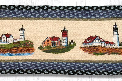 Three Lighthouses 68-251TLH Oval Runner 13x36