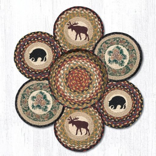 Wilderness TNB-319 Trivets In A Basket Set of 6 10x10