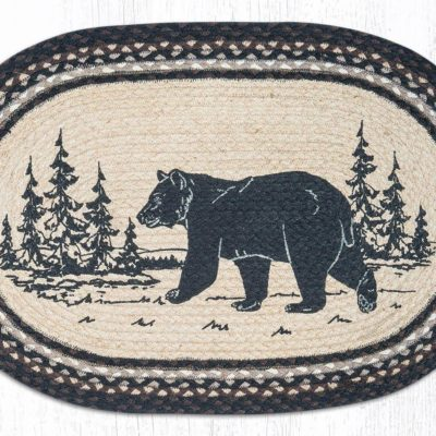 Bear Silhouette 65-313BE 20 x 30 Oval