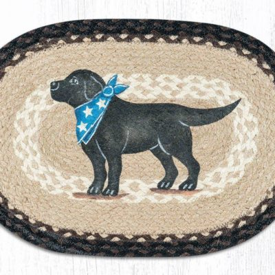 Black Lab 48-313BL Oval Placement 13x19