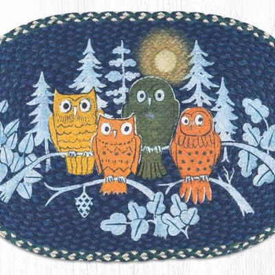 Midnight Owls 65-582MO 20 x 30 Oval