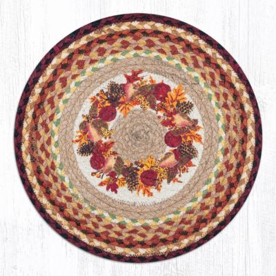Autumn Wreath 49-CH431AW Round Chair Pad 15.5x15.5