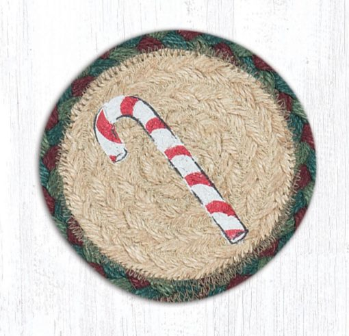 Candy Cane 31-IC508CC Round Individual Coaster 5x5