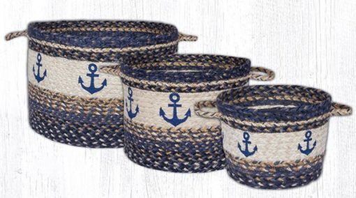 Navy Anchor UBP_9-525 Utility Baskets