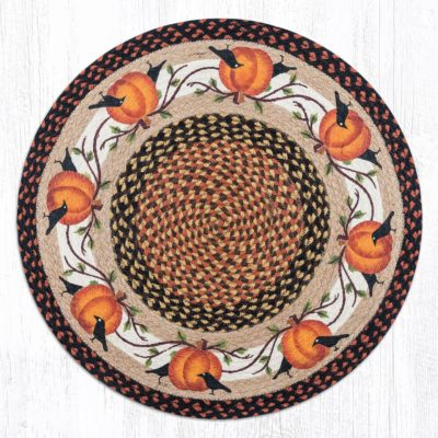 Pumpkin Crow 66-222PC Round Area Rug 27 x 27