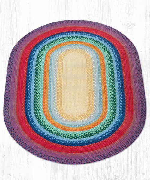 Rainbow 1 Braided Jute Oval Area Rug 400