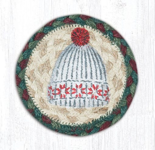 Winter Hat 31-IC508WH Round Individual Coaster 5x5
