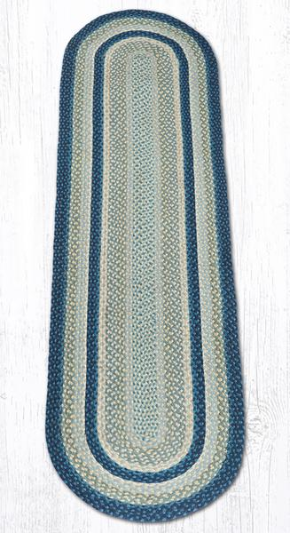 Breezy Blue Taupe Ivory 05-362 Oval Area Rug 2x8