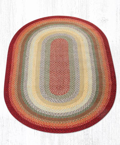 Thistle Green Country Red 07-417 Oval Area Rug 5x8